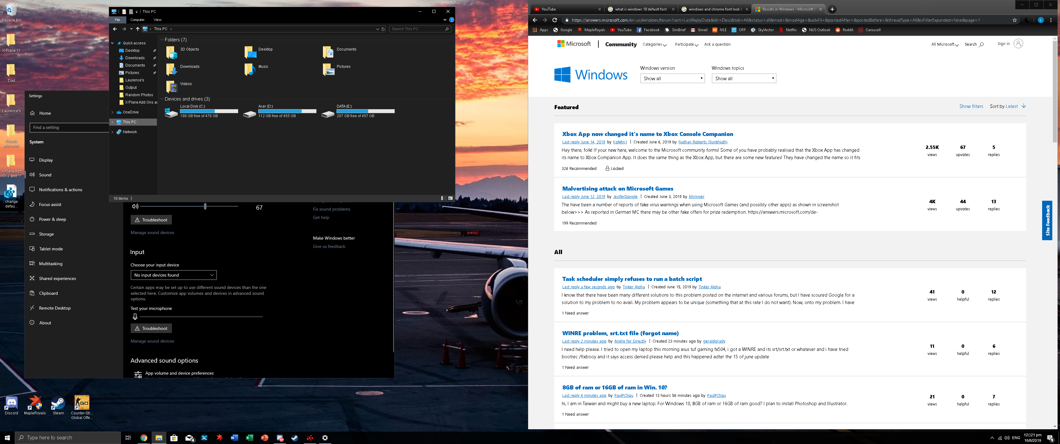 Font Issue with Windows 10 and Chrome - Microsoft Community