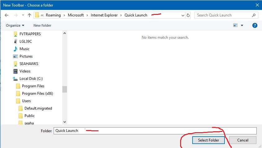 Add Quick Launch Toolbar To Taskbar In Windows 10