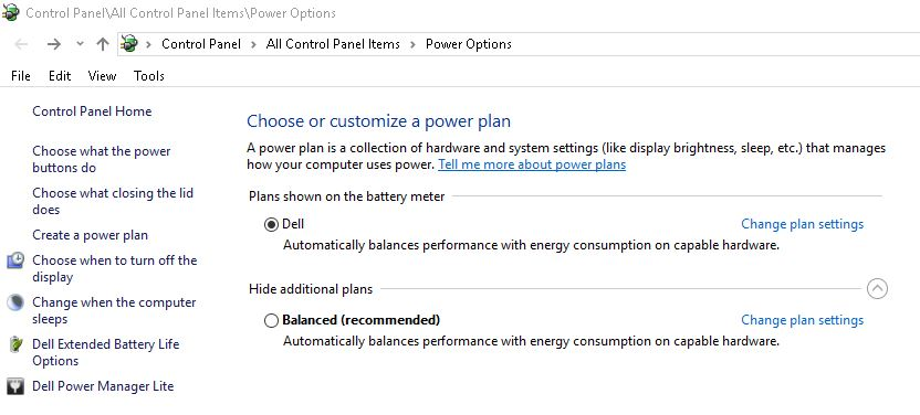 Why my laptop does not have High Performance power plan
