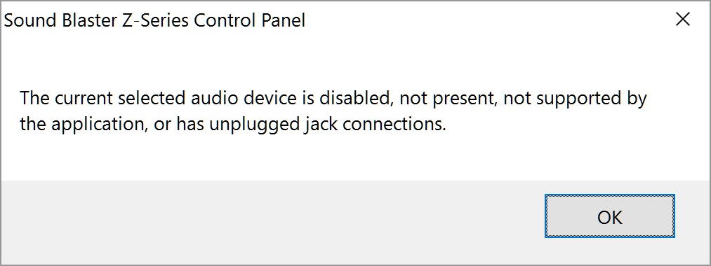 Sound Blaster Recon3Di not working with Windows 10 Creator