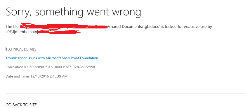 sharepoint online excel file locked for editing