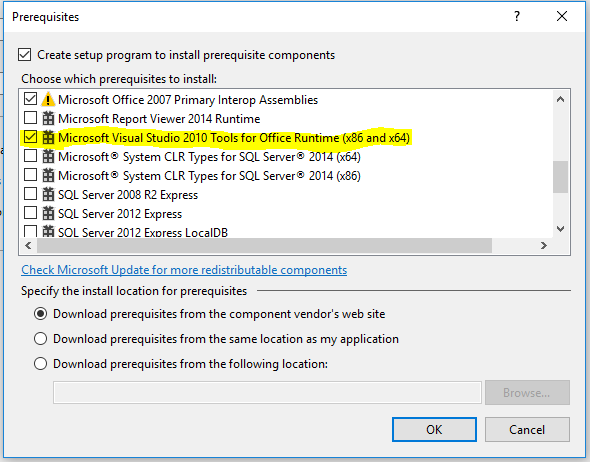 VSTO Add-In Not installing with MSI on Office 365 Pro Plu vs