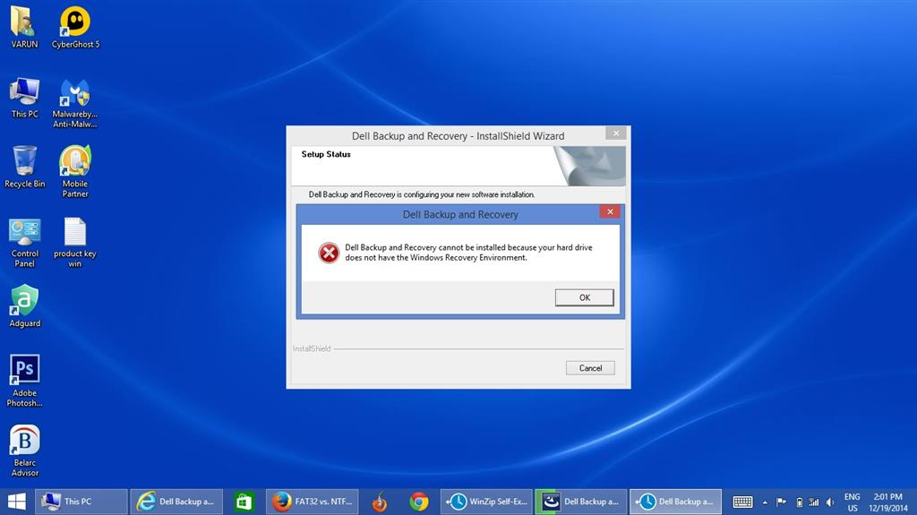 Windows Recovery Environment Missing! Help!!! - Microsoft