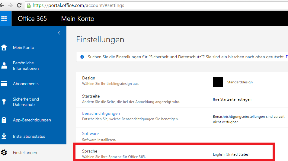 Office 365 - Can´t select language for synced user - Microsoft Community