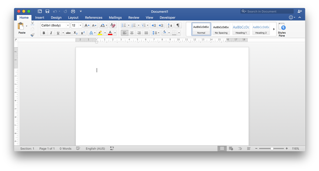 Microsoft word for a mac computer