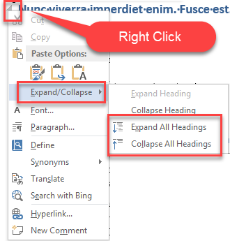 How Do You Remove All Instances Of Expand Collapse In Word Microsoft Community