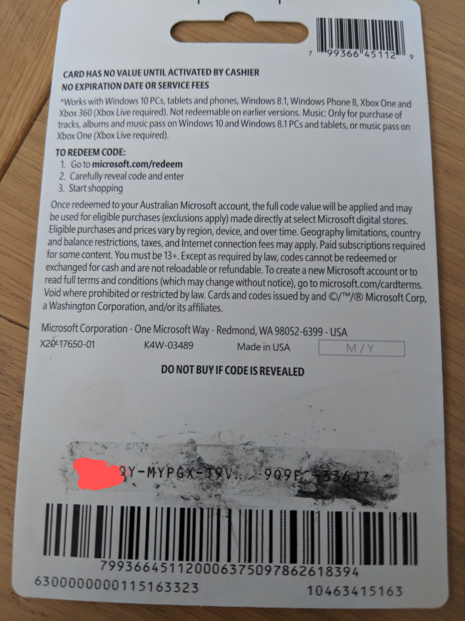 Redeeming codes [​IMG]