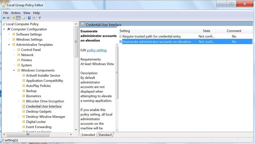how to find administrator username and password windows 7