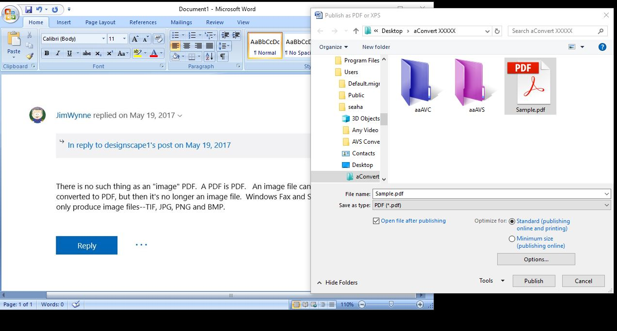 Scan a document in windows 10 to pdf file - Microsoft Community