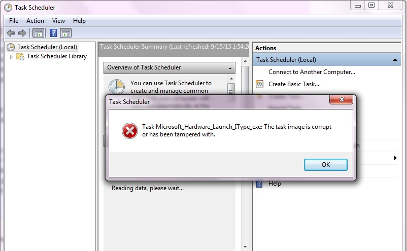 Task Scheduler files corrupted - Microsoft Community