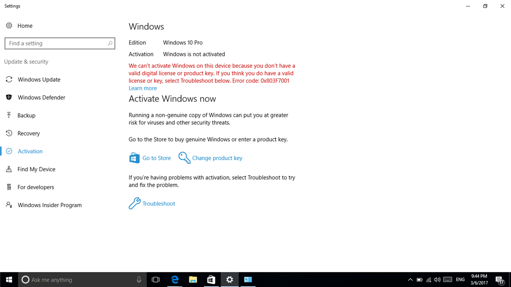 I download free version of windows 10 and I cant find the