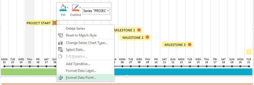 how to modify a premade excel project timeline template