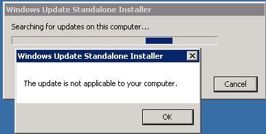 Windows Update (KB4012212) Standalone Error \