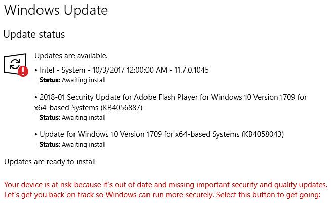 windows updates awaiting install