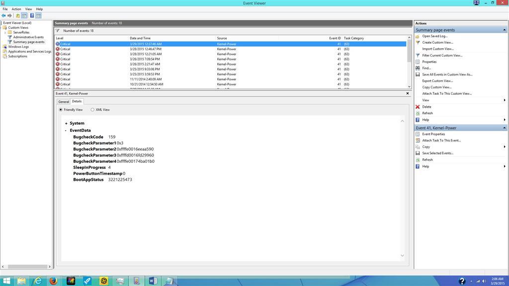 Kernel Power Error ID 41 Task 63 - Microsoft Community