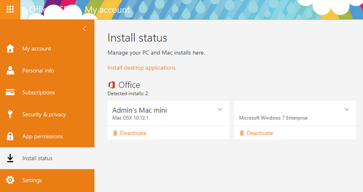 A Window Will Pop Up To Ask You To Activate Office. 4.Login To Office 365  Portal To Check Install Status.