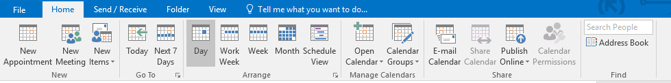 Share calendar greyed out in Outlook 2016/365 Home