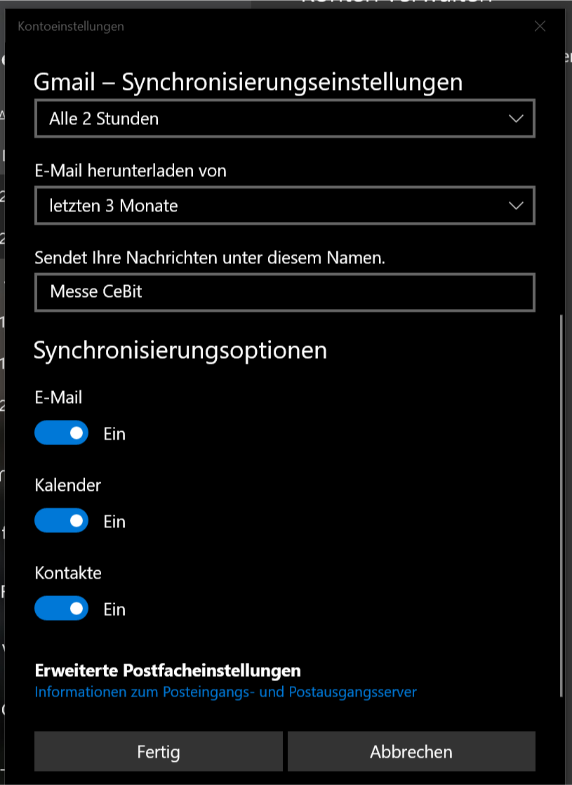 Microsoft Konto Mit Google Synchronisieren