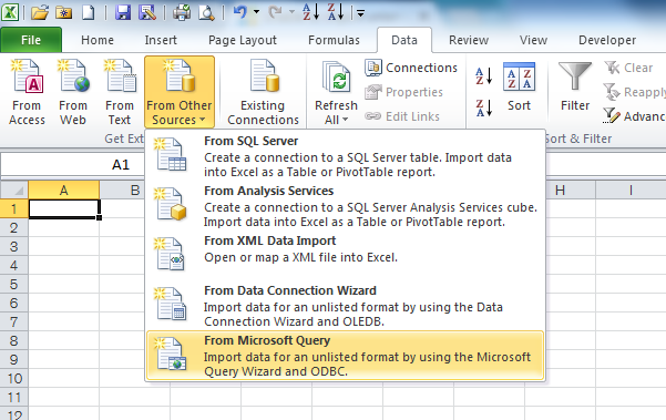 unable to import union query to excel from ms access microsoft