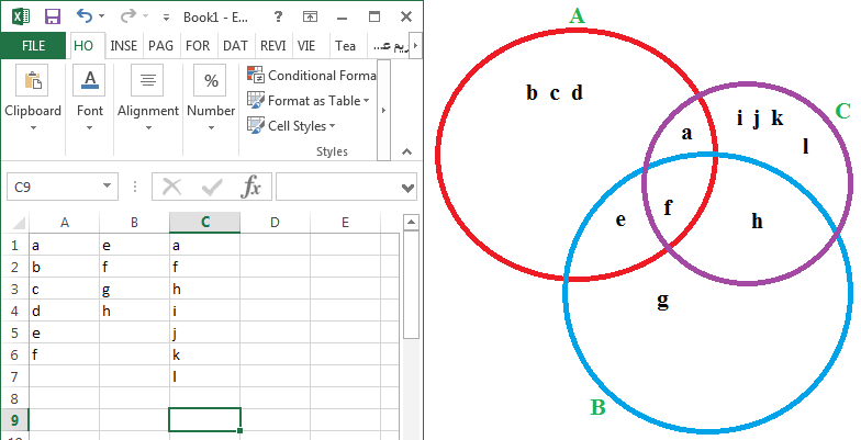 Making venn diagram in excel microsoft community image ccuart Images