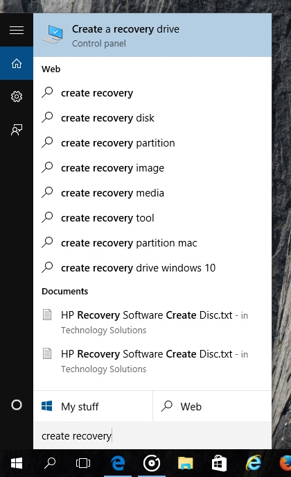 how to create windows 10 recovery media