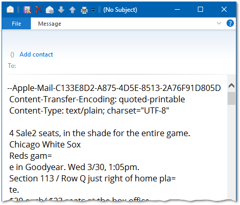 inbox email does not show