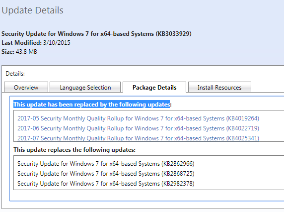 KB3033929 in Windows 7 says it's installed but it's not - Microsoft