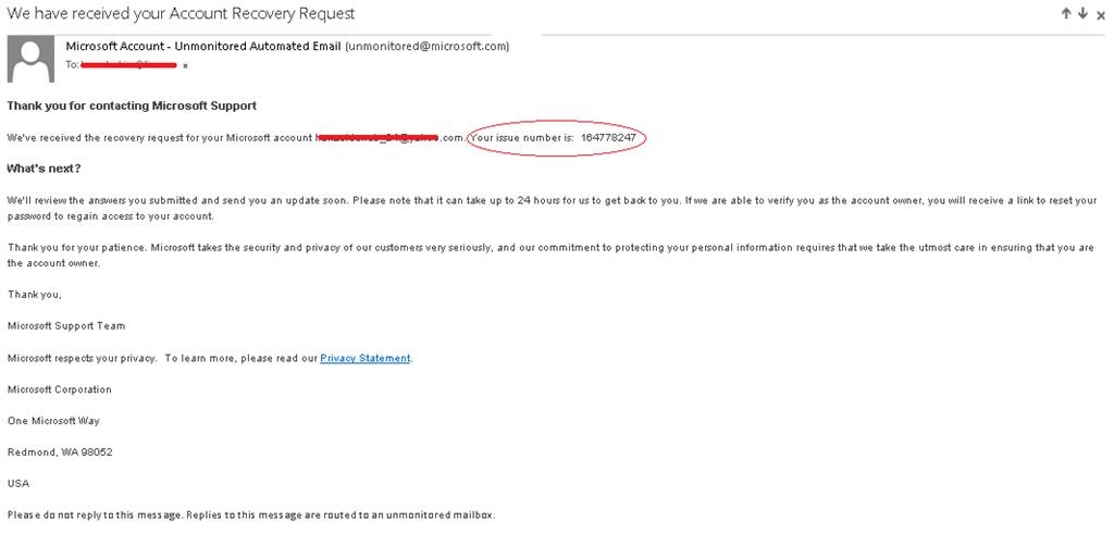 how to retrieve microsoft account email