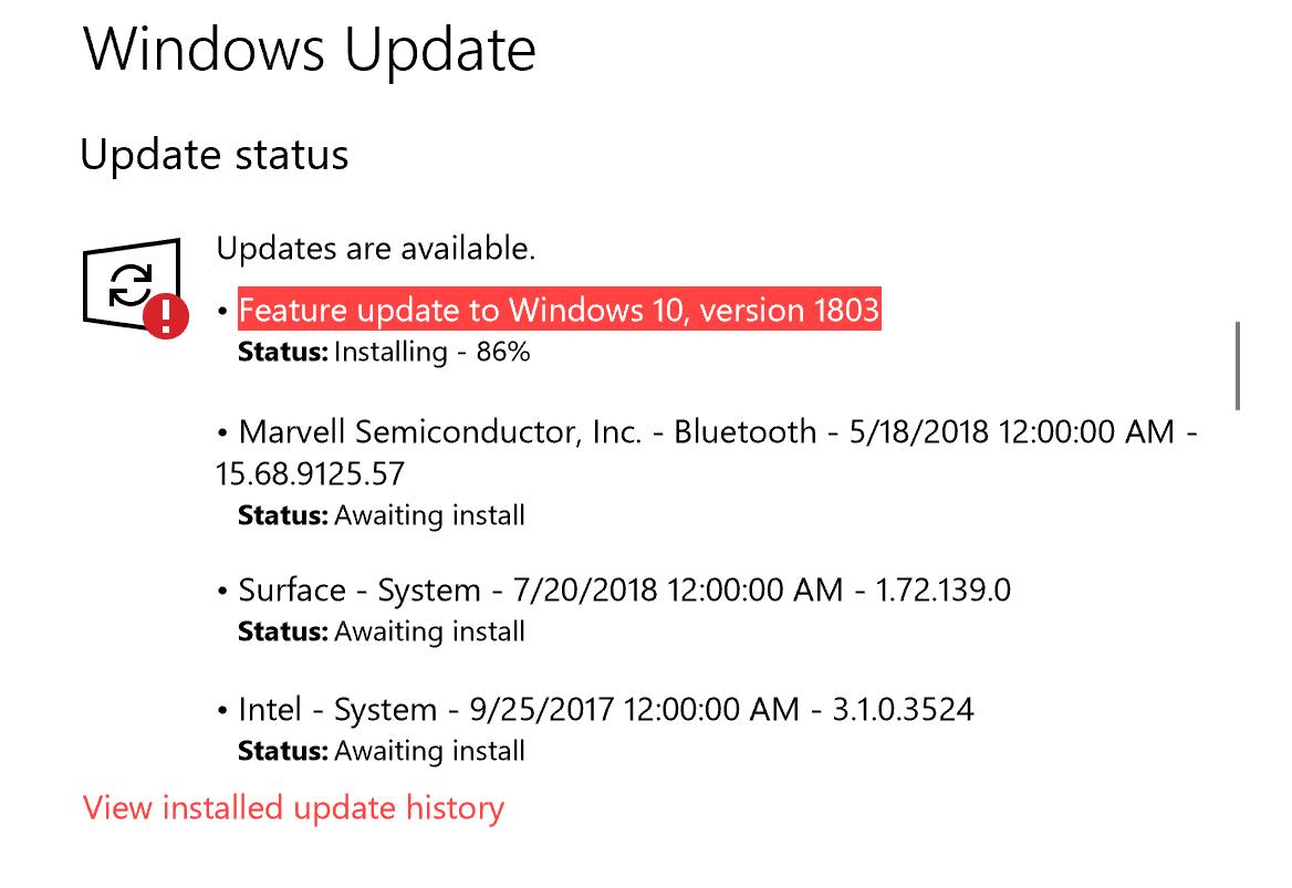 windows update stuck at 13