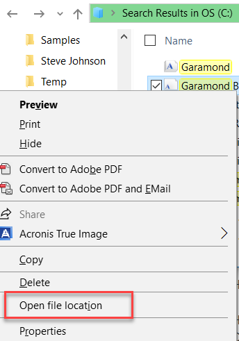 Font Shows and Prints in MS Word But Does Not Appear in Font