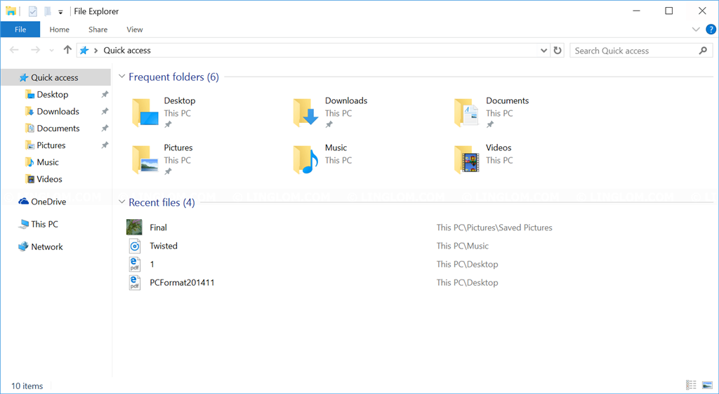 Fresh installed Windows 10 latest version, OLD icons in File