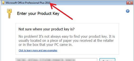 microsoft publisher 2010 keeps asking for product key