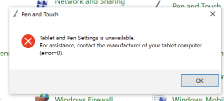 Tablet and Pen Settings is unavailable - Microsoft Community