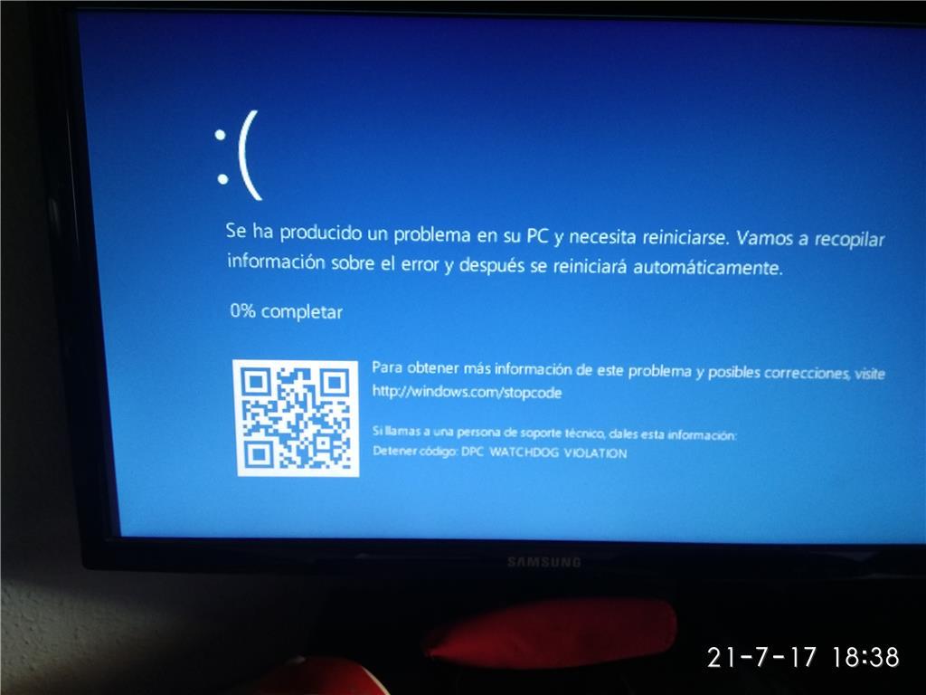 Windows 10 Error Dpc Watchdog Violation Se Reinicia Solo Y Tarda