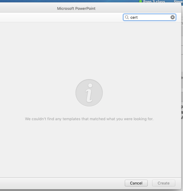 template search not working powerpoint for mac office microsoft