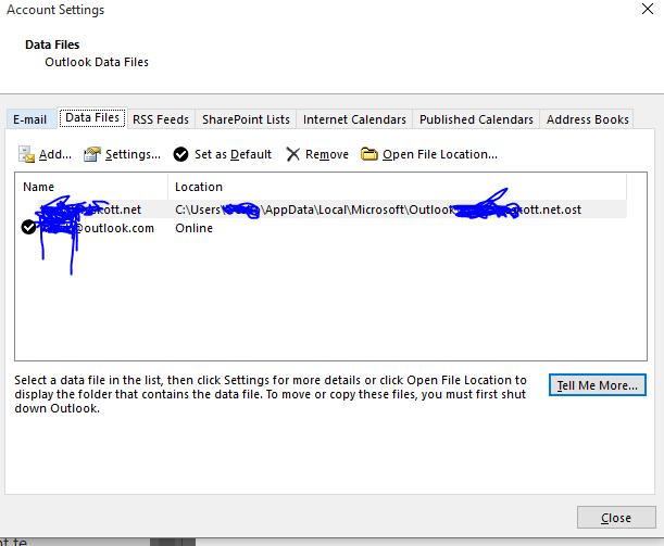 Change default sending accounts in Outlook 2016 (data files - Microsoft  Community