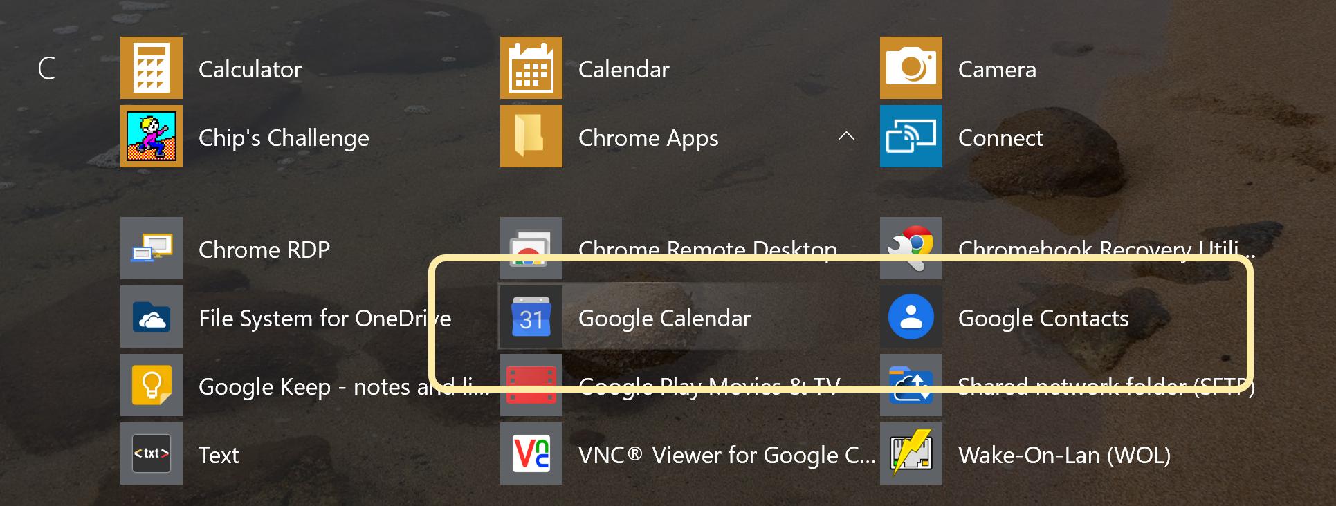 Chrome WebApp icons OK in AllApps, blank/grey in PinnedTiles