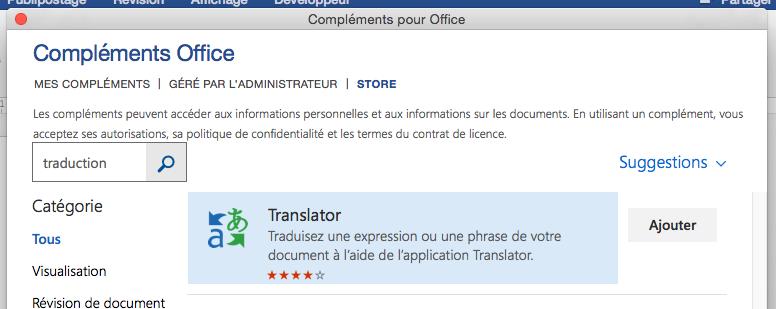 Utilisation de l 39 option traduire dans r vision word 2016 microsoft community - Pack office pour mac gratuit ...