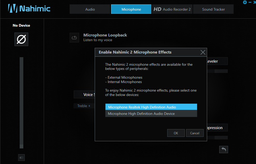 Microphone not working/detecting after update build 1803