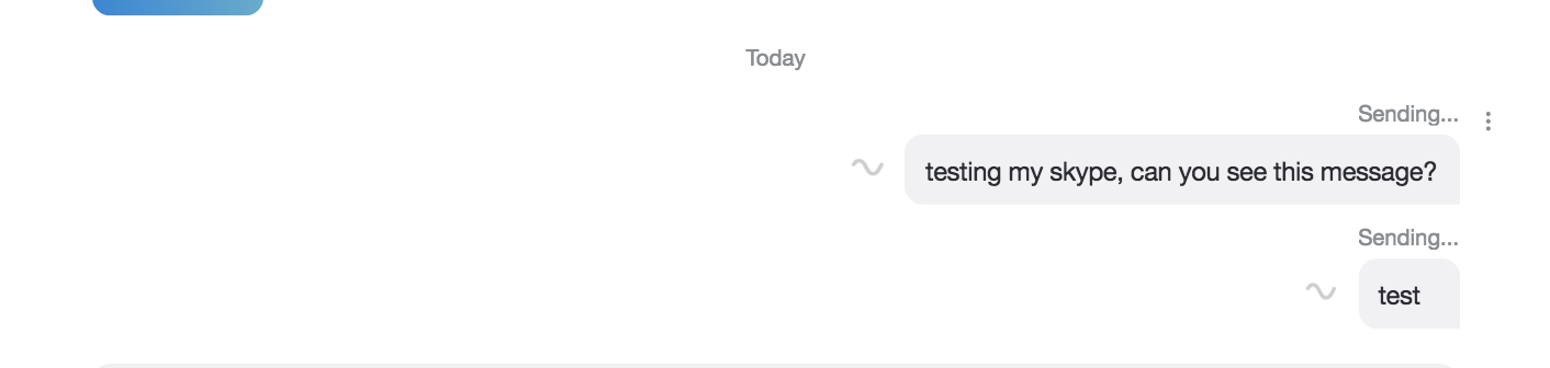 message stuck sending to one specific person - Microsoft
