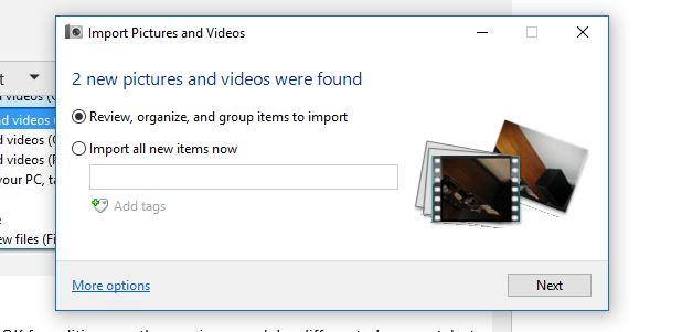 Windows 10 photo import settings - Microsoft Community