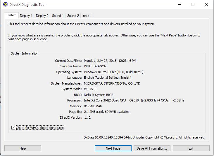 Directx 10 On Window 10, Can't find Directx 12    - Microsoft Community