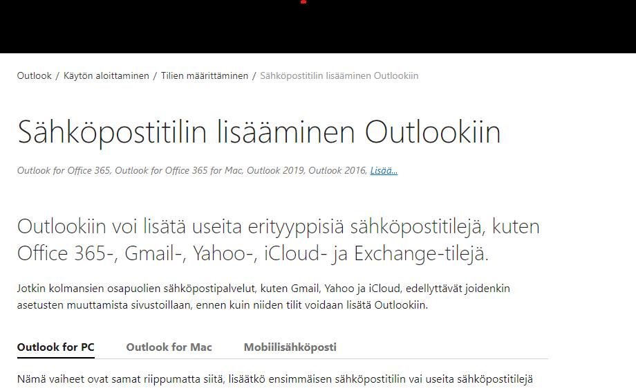 Sähköpostiohjelmat