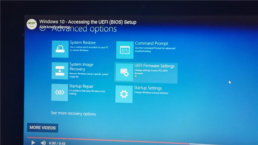 Can't install W10 on a new SSD on Acer Aspire  - Microsoft