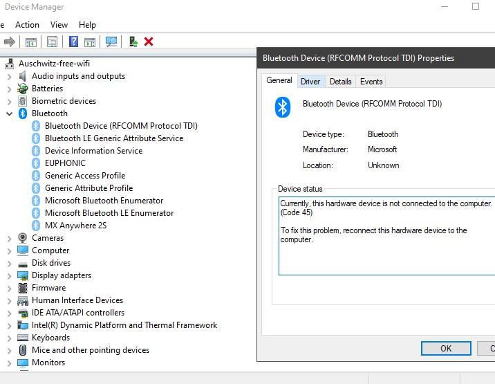 Intel(R) Wireless Bluetooth(R) Driver Errors - Microsoft Community