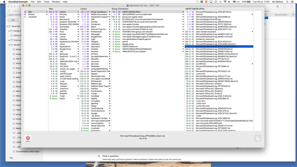 Office 2016 Mac - MicrosoftShipAssertLog how to delete