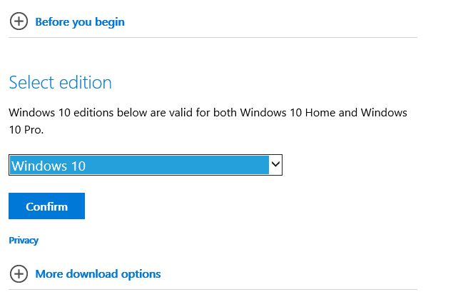 How to Download Official Windows 10 ISO files Using Media Creation