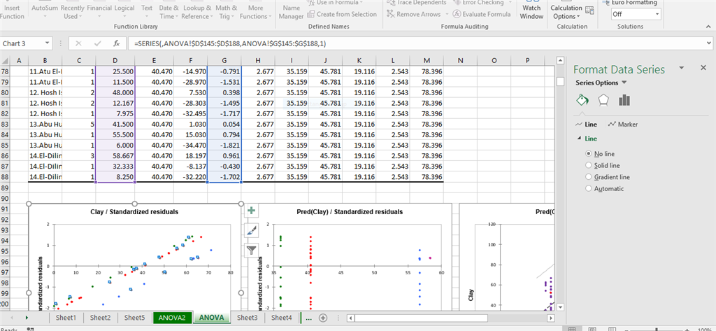 how to change the series on a graph in excel