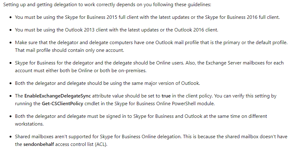 Skype For Business Addon Crashes Outlook 2016 Creating New Delegate