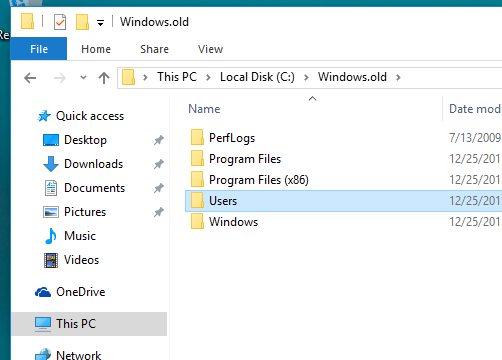Recover personal files from the Windows.old Folder such as ...